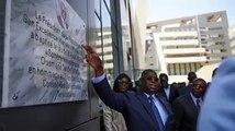 Plaque commémorative à Ousmane Tanor Dieng Le Président Macky Sall a confirmé aujourd'hui sa promesse de donner à la première sphère interministérielle de Diamniadio le nom d'Ousmane Tanor Dieng.
