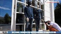 """Des jeans, chemises ou vestes Kaporal estampillés """"OM"""""""