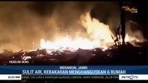 Enam Rumah di Merangin Ludes Terbakar Akibat Korsleting Listrik