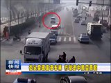 En chine, cette voiture s'envole sans explication en pleine route