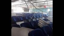 Deprem sırasında Çardak Belediyesi konferans salonunda hasar oluştu