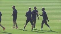 Moise Kean entrenando con su viejo equipo, Juventus