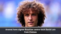 Arsenal sign Luiz from Chelsea