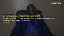 Entretien - Choix de filière des bacheliers : « L'université n'est pas la seule voie possible pour réussir dans la vie »  Axel Amoussou