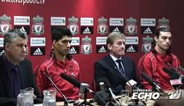Liverpool FC's number nine Andy Carroll unveiled at press conference
