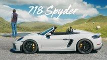 NEW Porsche 718 Spyder_ Road Review Of The Topless GT4 _ Carfection 4K