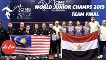 WSF World Junior Squash Champs  2019 - Egypt v Malaysia - Teams Final