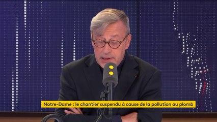 """Notre-Dame de Paris : """"Si vous croyez que le Vatican va sortir quelques centimes"""" pour payer les travaux de reconstruction, """"ils vont faire quelques chapelets, ce qui est déjà pas mal"""" affirme Mgr Patrick Chauvet, recteur archiprêtre de la cathédrale"""