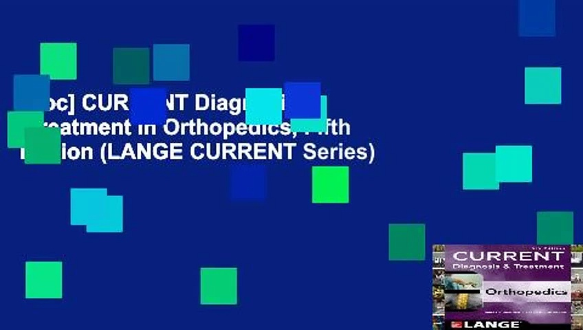 [Doc] CURRENT Diagnosis   Treatment in Orthopedics, Fifth Edition (LANGE CURRENT Series)