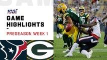 Texans vs. Packers Preseason Week 1 Highlights - NFL 2019