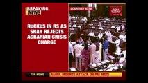 Opposition Disrupts Amit Shah's Speech In Rajya Sabha On Farmers' Crisis
