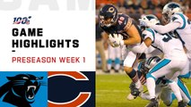 Panthers vs. Bears Preseason Week 1 Highlights - NFL 2019