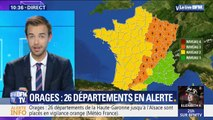 Orages: 26 départements placés en vigilance orange
