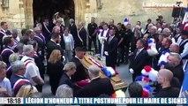 Obsèques du maire de Signes : Jacqueline Gourault remet la légion d'honneur à Jean-Mathieu Michel