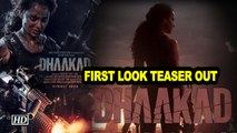 Kangana's ferocious avatar in Dhaakad | First Look Teaser out