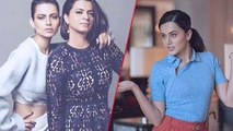 Taapsee Pannu's REACTION On Being Called Sasti Copy By Kangana's Sister