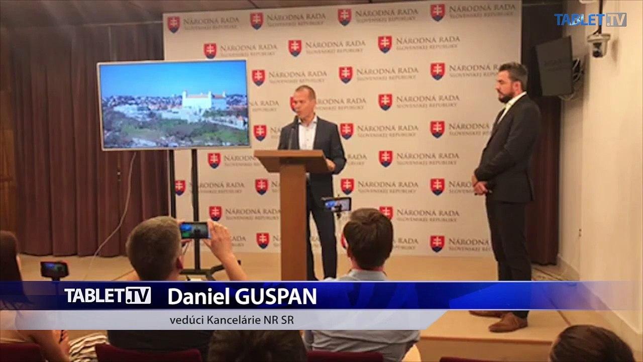 ZÁZNAM: Brífing vedúceho Kancelárie Národnej rady SR Daniela Guspana