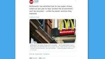 Les pailles McDonald's en carton ne sont pas recyclables