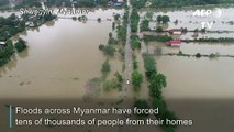 Myanmar floods force thousands from homes