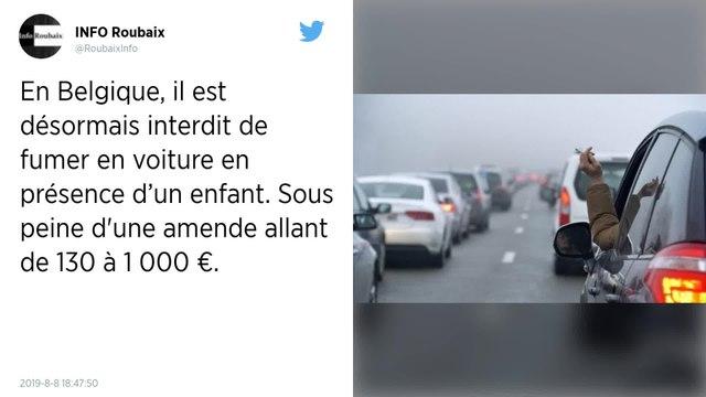 Belgique : Fumer en voiture en présence d'un enfant est désormais interdit