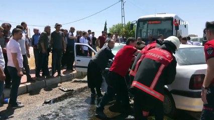 Kafa Kafaya Çarpışan Araçlarda Sıkışan Sürücüler Böyle Kurtarıldı