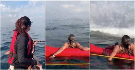 Banhistas nunca mais vão esquecer este passeio de canoa no Rio de Janeiro… SURPRESA!