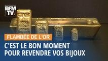 Flambée de l'or: C'est le bon moment pour revendre vos bijoux