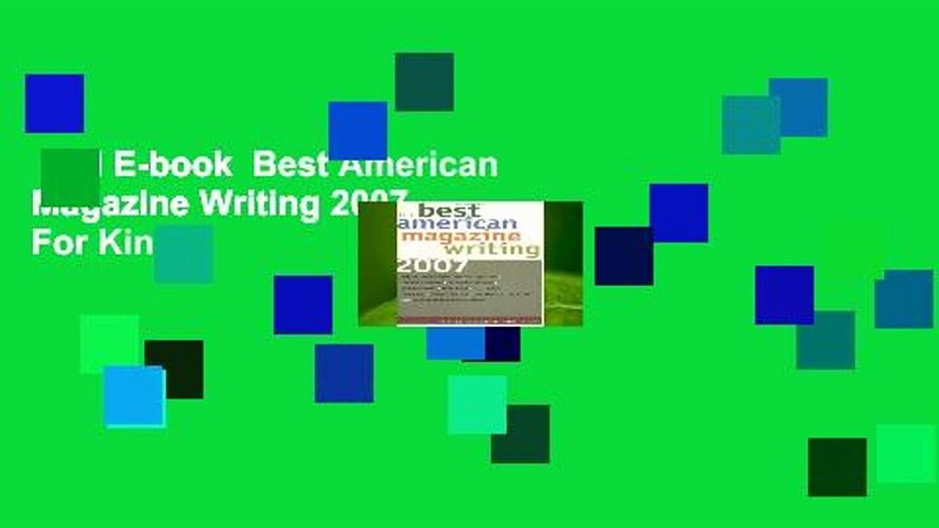 Full E-book  Best American Magazine Writing 2007  For Kindle