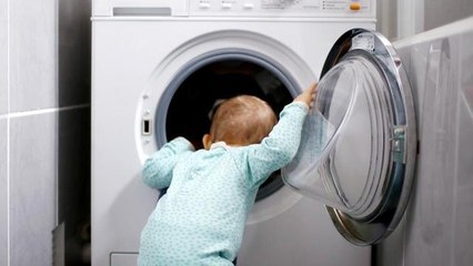 How to Prevent Kids From Getting Stuck in Washing Machines