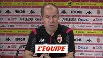 Jardim «Continuer à travailler» - Foot - L1 - Monaco