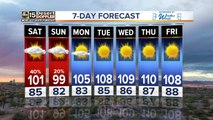 Strong chance for weekend storms around the Valley