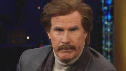 WATCH -- Will Ferrell Makes Surprise Appearance as 'Anchorman' Ron Burgundy on Late-Night TV