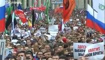 Más de 250 detenidos en un nuevo sábado de protestas en Rusia