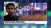 Hong Kong Protests :  protesters defy police with'hit-and-run' rallies