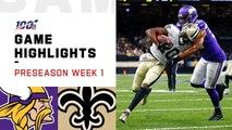 Vikings vs. Saints Preseason Week 1 Highlights _ NFL 2019