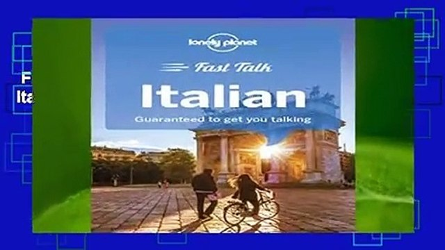 Full E-book  Lonely Planet Fast Talk Italian (Phrasebook)  For Kindle