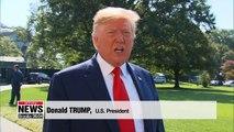 "N. Korean leader ""not happy"" with S. Korea-U.S. joint exercises: Trump"