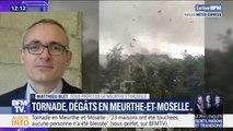 """Tornade: selon le sous-préfet de Meurthe-et-Moselle, """"aucune famille n'a besoin d'être relogée"""""""
