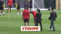 Neymar à l'entraînement - Foot - L1 - PSG