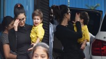 Sunny Leone tries to calm her crying son at Play school; Check out | FilmiBeat
