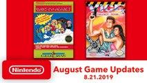 Nintendo Switch Online - Les nouveaux jeux NES d'août 2019