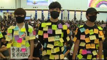 Hong Kong protesters launch three-day sit-in at airport