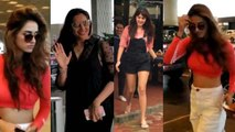 Disha Patani, Rhea Chakraborty & Bipasha Basu spotted in stylish look; Watch Video | FilmiBeat