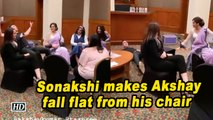 Mission Mangal promotions | Sonakshi makes Akshay fall flat from his chair