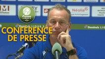Conférence de presse FC Sochaux-Montbéliard - AJ Auxerre (1-0) : Omar DAF (FCSM) - Jean-Marc FURLAN (AJA) - 2019/2020