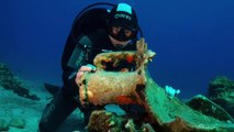 Ancient Cargo-Laden Shipwrecks Discovered Near Greek Island