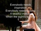 Miley Cyrus - When I Look At You ( lyrics )