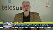 Borón: Inaceptable caída del sistema electrónico electoral argentino