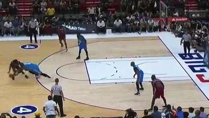 Basket-Ball - BIG3 - Glen Davis literally caught Nate Robinson...but not his game-winner