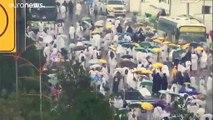 شاهد: أمطار غزيرة تتهاطل على صعيد عرفة خلال أداء الركن الأعظم من الحج